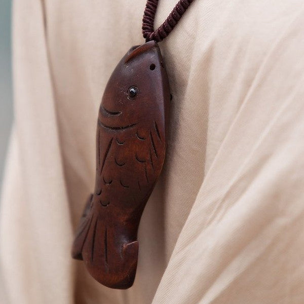 Wooden Fish Necklace - Florence Scovel - 1