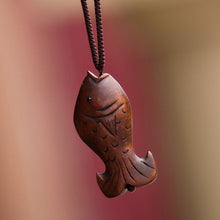 Wooden Fish Necklace - Florence Scovel - 4