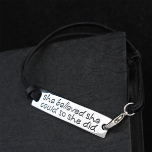 She Believed She Could So She Did Hand Stamped Bracelet - Florence Scovel - 6