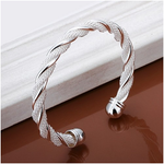 Silver Braided Cuff Bangle - Florence Scovel - 2