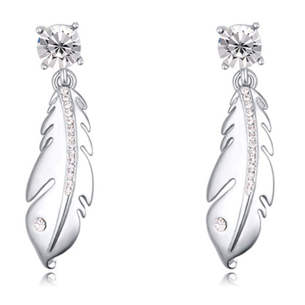 Silver Feather Earrings - Florence Scovel - 1