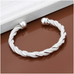 Silver Braided Cuff Bangle - Florence Scovel - 3