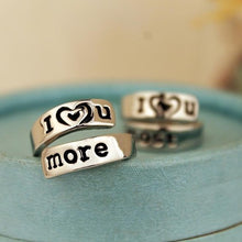 I Love You More Hand Stamped Ring - Florence Scovel - 2