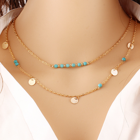 Turquoise Layer Necklace - Florence Scovel - 1