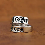 I Love You More Hand Stamped Ring - Florence Scovel - 3