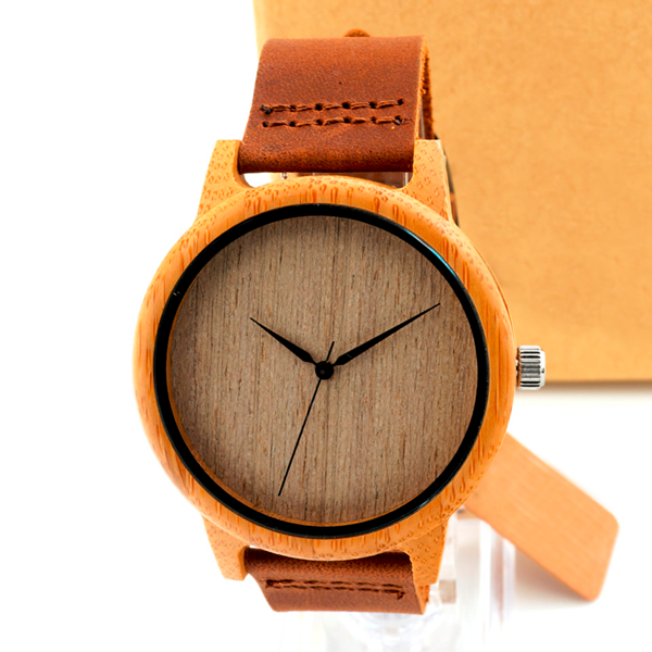 Natural Brown Wooden Watch - Florence Scovel - 4