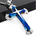 Stainless Steel Dual Tone Men's Cross Pendant - Florence Scovel - 4