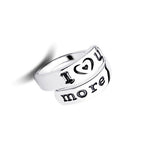 I Love You More Hand Stamped Ring - Florence Scovel - 1