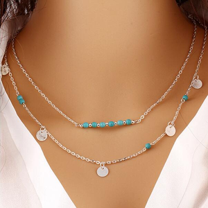 Turquoise Layer Necklace - Florence Scovel - 2
