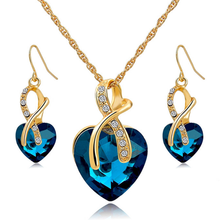 Crystal Gem Heart Necklace Set - Florence Scovel - 1