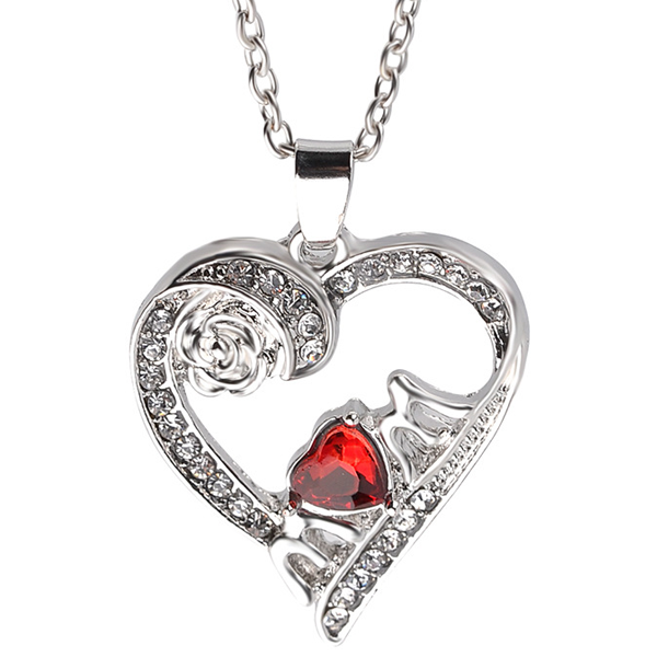 Red Heart Mom Pendant - Florence Scovel - 1