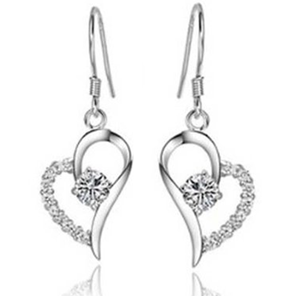 Crystal Heart Earrings - Florence Scovel