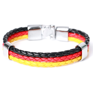 Team Germany Leather Unisex Bracelet - Florence Scovel - 1