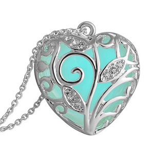 Glow In The Dark Heart Necklace - Florence Scovel - 1