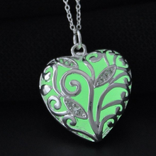 Glow In The Dark Heart Necklace - Florence Scovel - 4