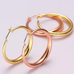 Solid Gold French Lock Hoops - Florence Scovel - 3