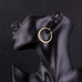 Solid Gold French Lock Hoops - Florence Scovel - 7