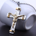 24K Gold Plated Two Tone Cross Pendant - Florence Scovel - 3