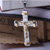 24K Gold Plated Two Tone Cross Pendant - Florence Scovel - 6