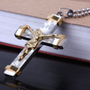 24K Gold Plated Two Tone Cross Pendant - Florence Scovel - 7
