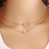 Double Layer Round Pendant Necklace - Florence Scovel - 3