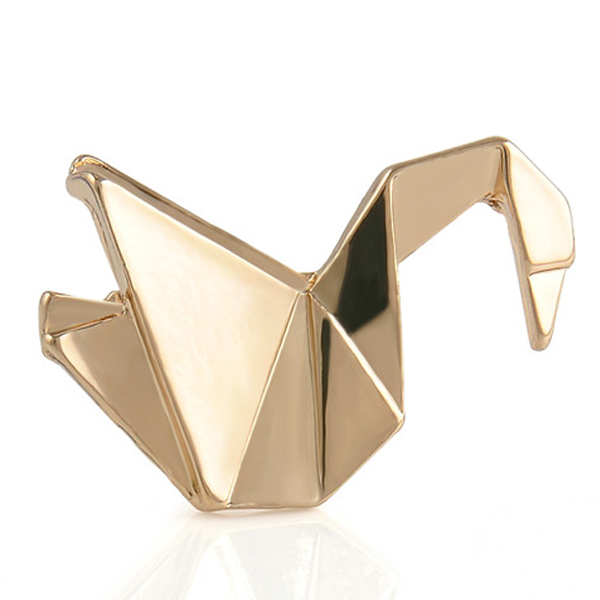 Golden Crane Origami Pin