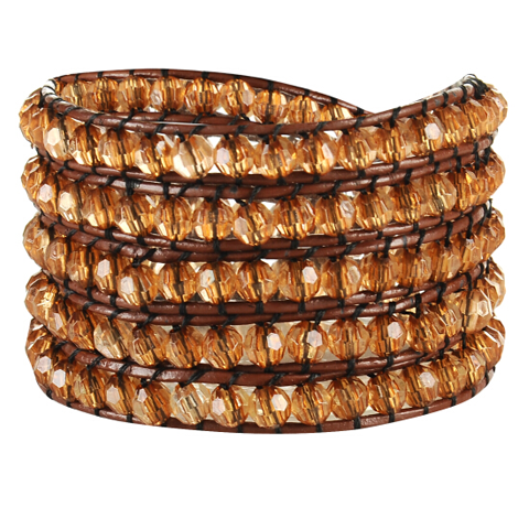 Golden Crystal Wrap Bracelet - Florence Scovel - 1