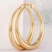 Solid Gold French Lock Hoops - Florence Scovel - 6