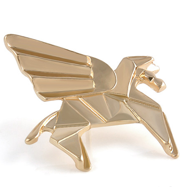 Golden Pegasus Origami Pin