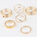 6pc Gold Stackable Ring Set - Florence Scovel - 3