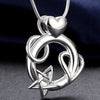Heart and Star Combo Pendant Necklace