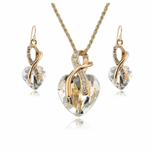 Crystal Gem Heart Necklace Set - Florence Scovel - 5