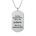 Grateful For Dad Necklace