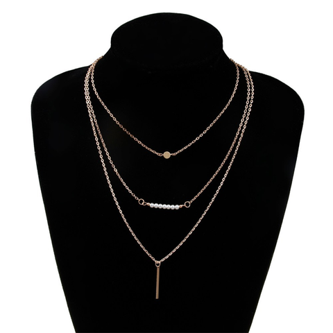3 Multi-Layer Bar Necklace - Florence Scovel - 1