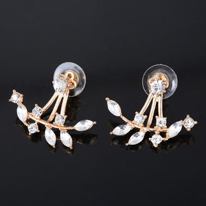 Chic Rhine-stoned Leaf Branch Earrings For Women - Florence Scovel - 2