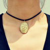 Locket Choker Necklace - Florence Scovel - 1