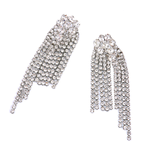 Luxe Diamond Tassel Drop Earrings