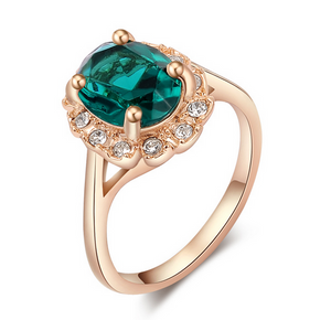 Florence Emerald Rose Gold Ring - Florence Scovel - 1