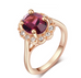 Florence Emerald Rose Gold Ring - Florence Scovel - 3