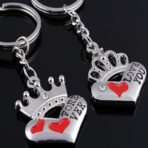 king and queen keychain florence scovel
