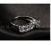Platinum Plated Heart Curve Ring - Florence Scovel - 2