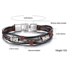 Handmade Genuine Leather Men's Bracelet - Florence Scovel - 6