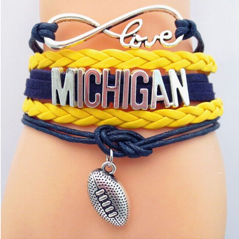 Michigan Wolverines Bracelet - Florence Scovel