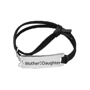 Mother Love Daughter Leather Strap Bracelet - Florence Scovel - 1