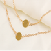 Double Layer Round Pendant Necklace - Florence Scovel - 2