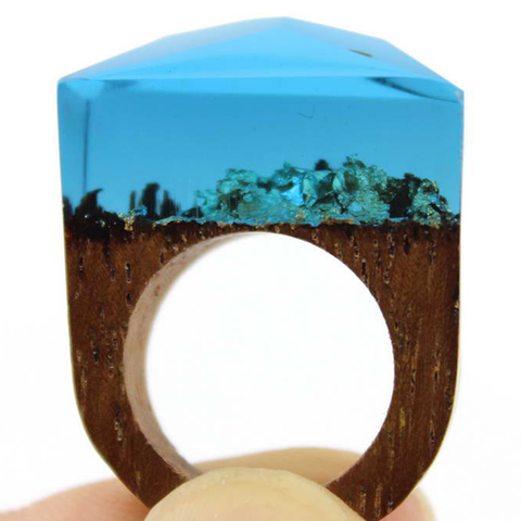 Ocean Oasis Wood Ring - Florence Scovel