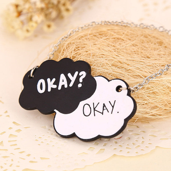 Okay Okay Tag Necklace - Florence Scovel - 1