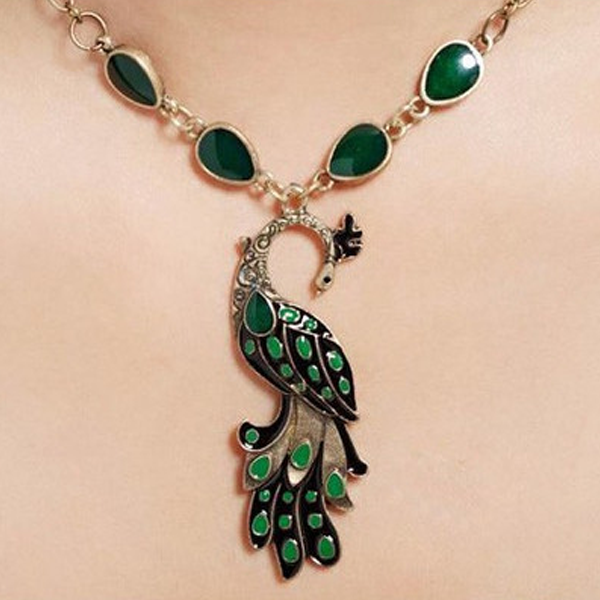 Peacock Necklace - Florence Scovel