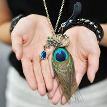 Peacock Feather Pendant - Florence Scovel - 1