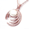 Pearl Diamond Rose Gold Necklace - Florence Scovel - 2